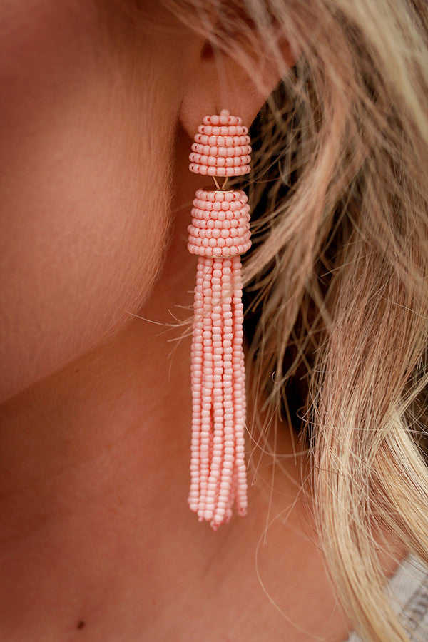 City Sweet Earrings in Peach