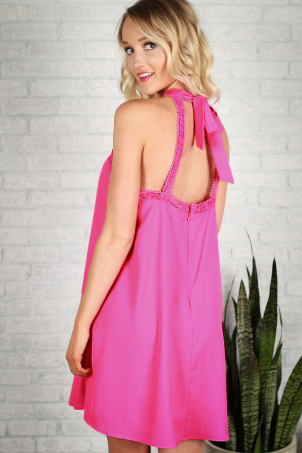 Made With Love Dress in Hot Pink