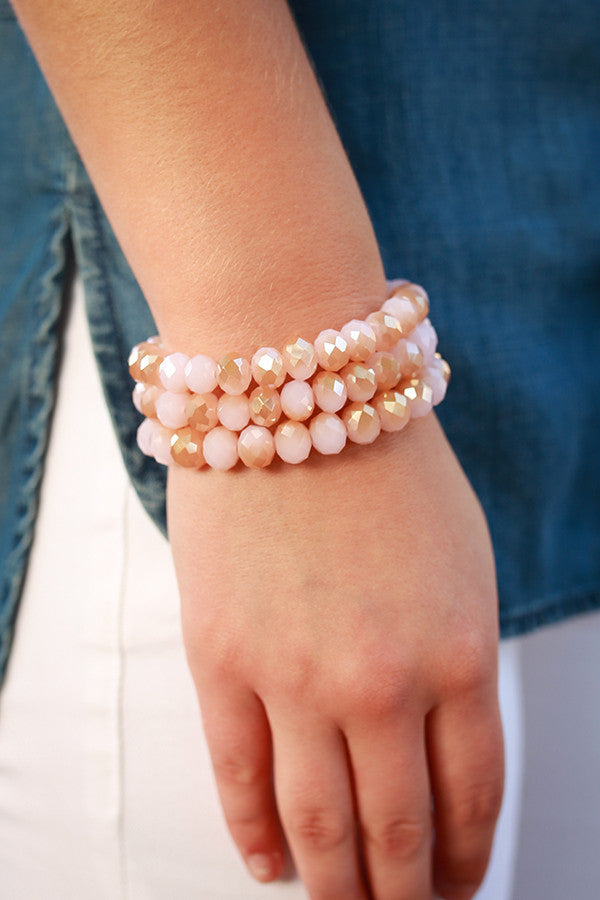Honey So Sweet Bracelet In Rose Quartz