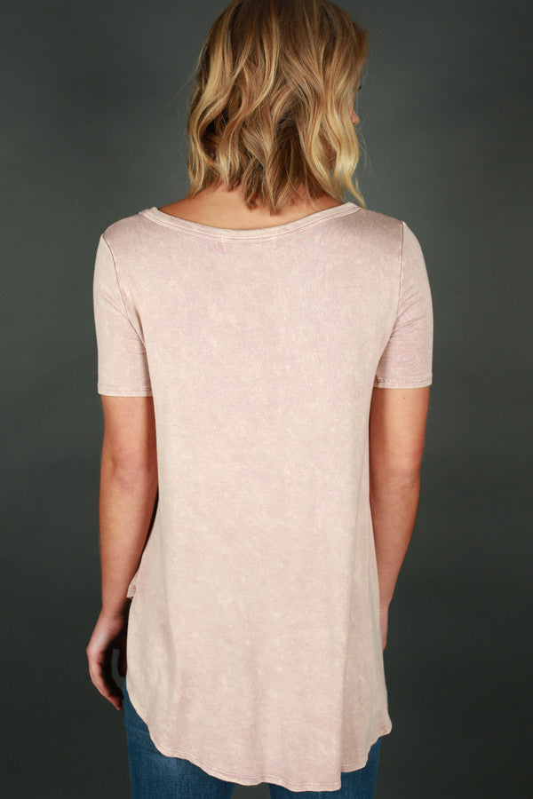 Memories Made Criss Cross Tee in Rose Quartz