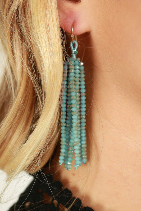 Call It Bliss Earrings In Aqua