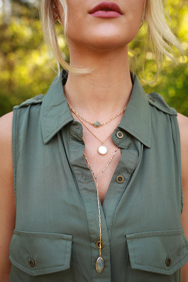 Off Duty Beauty Semi Precious Stone Necklace