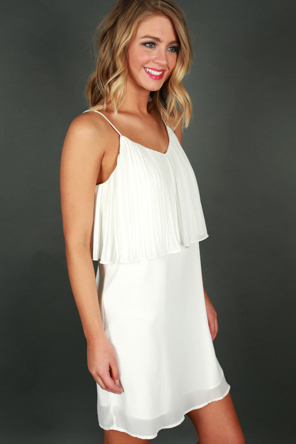 Off The Charts Dress in White