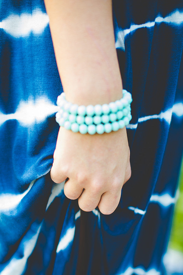 Honey So Sweet Bracelet In Aqua