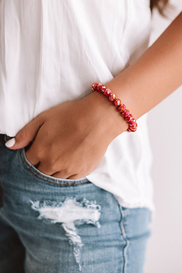 Honey So Sweet Bracelet In Red