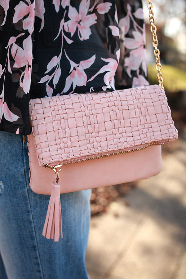 The Final Touch Clutch in Rose Quartz