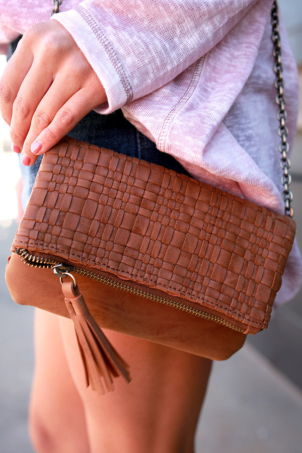 The Final Touch Clutch in Brown