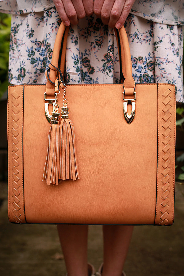 A Lot To Handle Tote in Tan