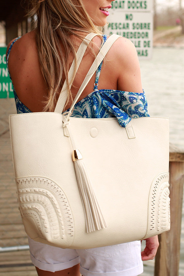 Getting Carried Away Tote in Stone