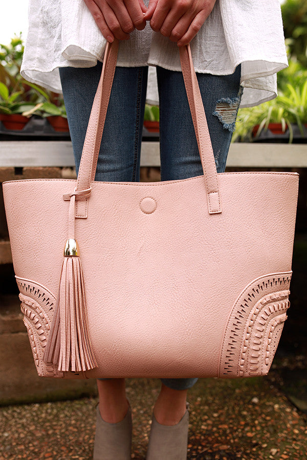 Getting Carried Away Tote in Rose Quartz