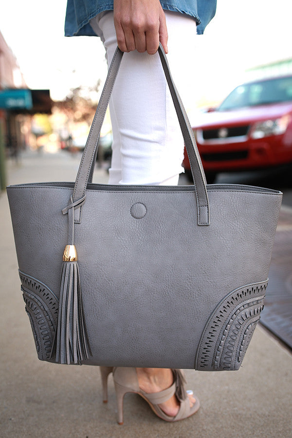 Getting Carried Away Tote in Light Slate