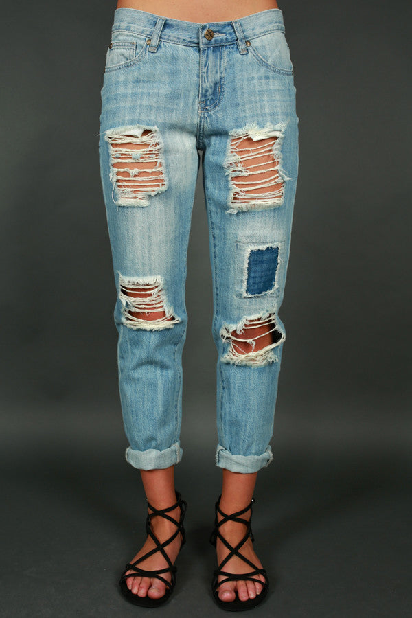 Not Your Boyfriend's Distressed Jean