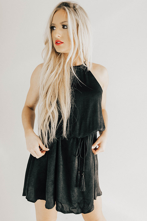 The Sweet One Mini Dress in Black