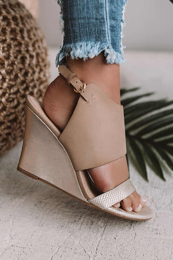 Baja Wedge in Beige