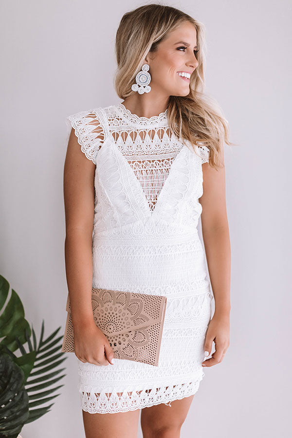 Here For The Rose Crochet Dress