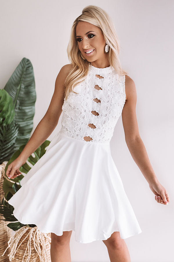Royalty Crochet Fit and Flare Dress