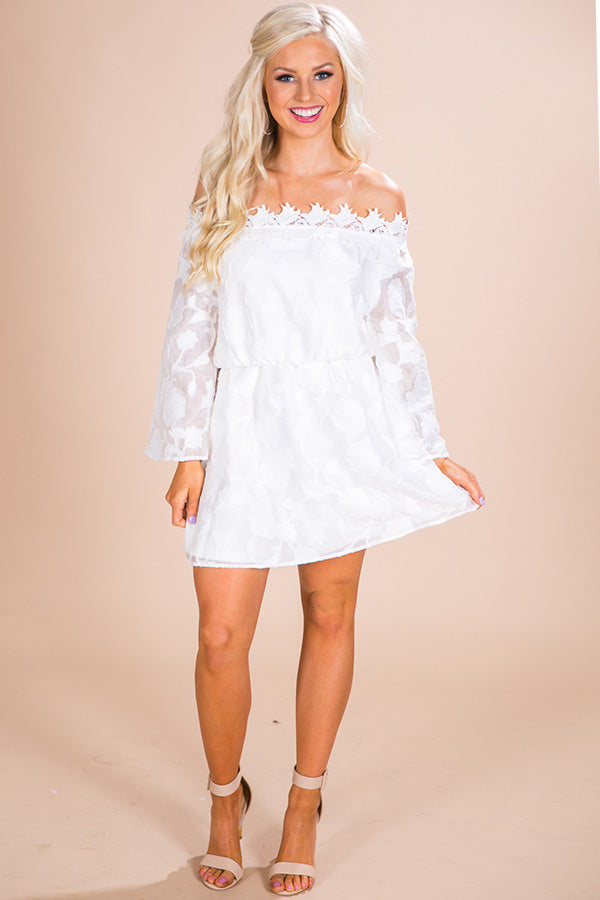 Swanky Sunday Dress In White