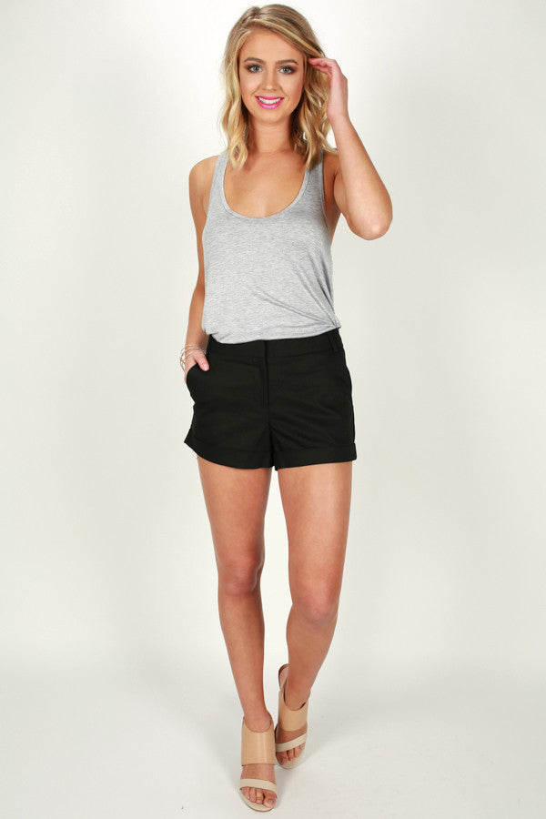 Strut My Way Shorts in Black