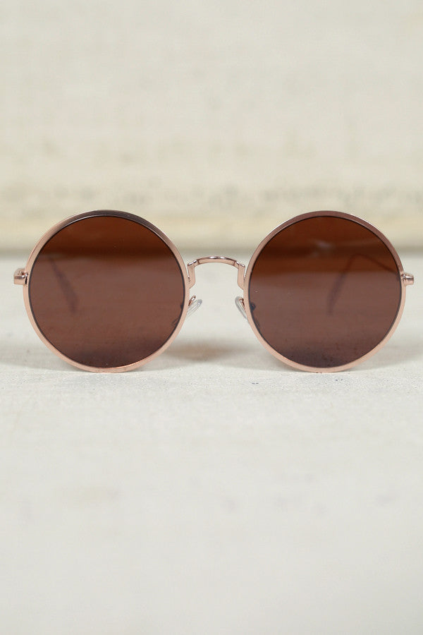 Around The Clock Sunglasses in Gold