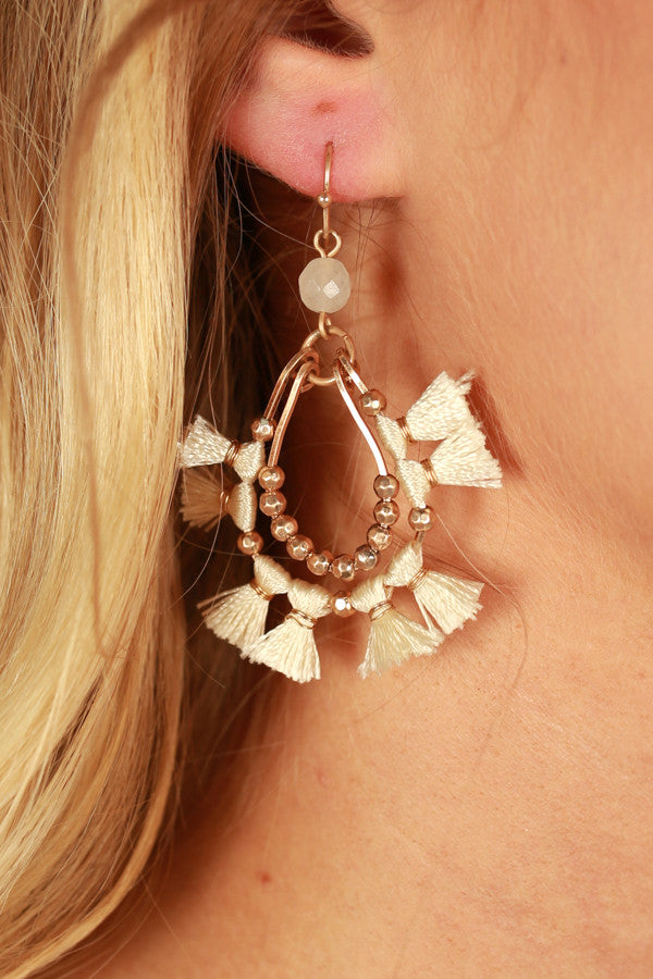 Paradise Pretty Tassel Earrings