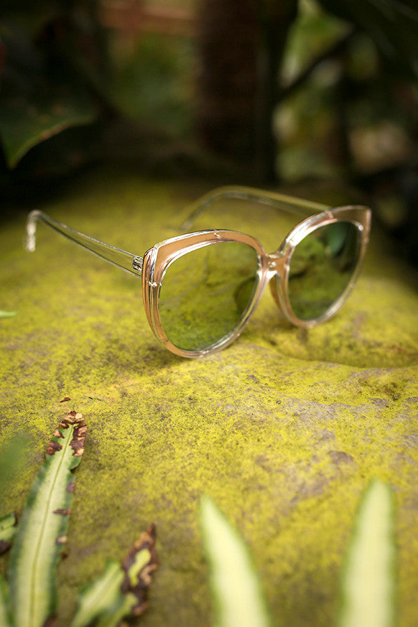 Style Factor Cat Eye Sunglasses in Rose Gold