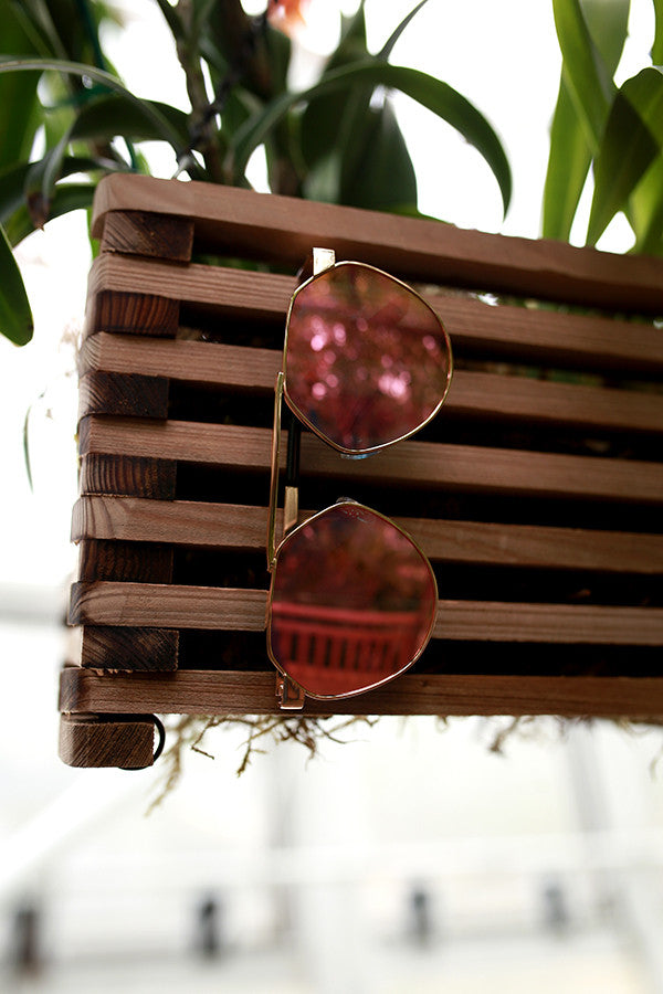 Playful Appearance Sunglasses in Rose Quartz