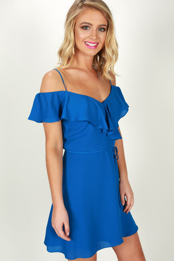 Weekend On The Coast Dress in Sapphire
