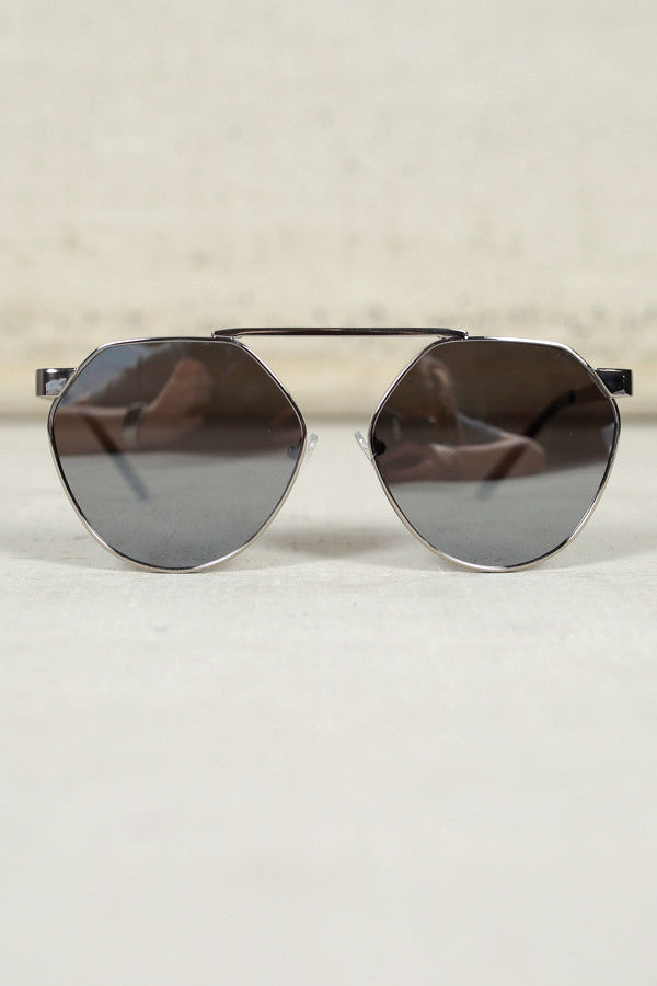 Playful Appearance Sunglasses in Chrome