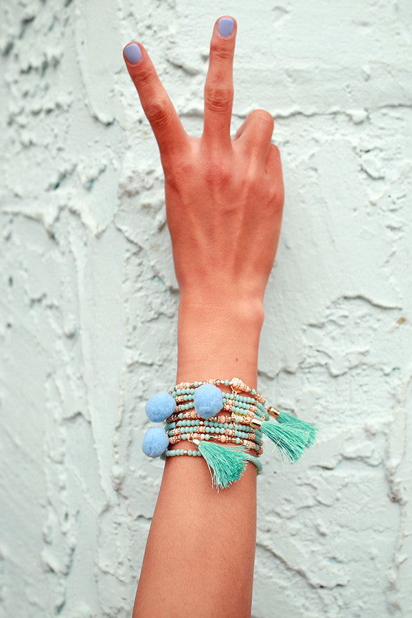 Street Chic Bracelet Set in Limpet Shell