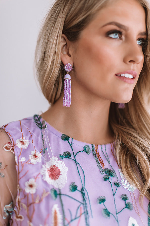 It's Love After All Earrings in Lavender
