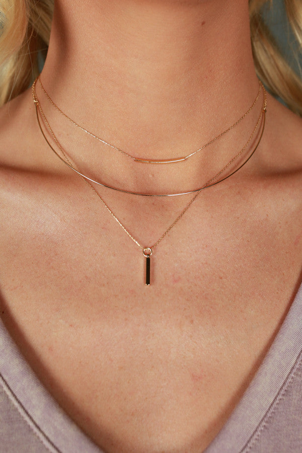 Bar None Layered Choker