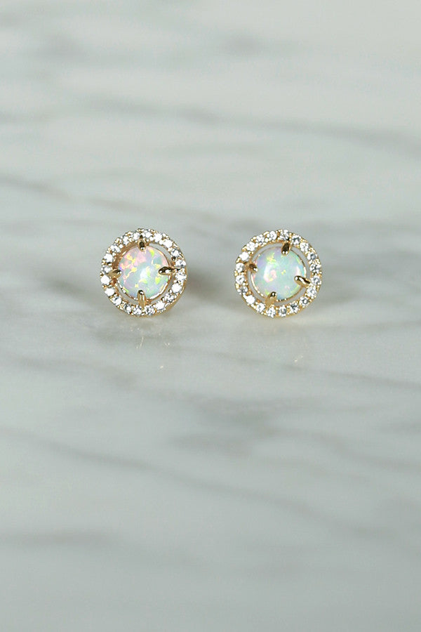Endlessly Fascinating Earrings in Opal