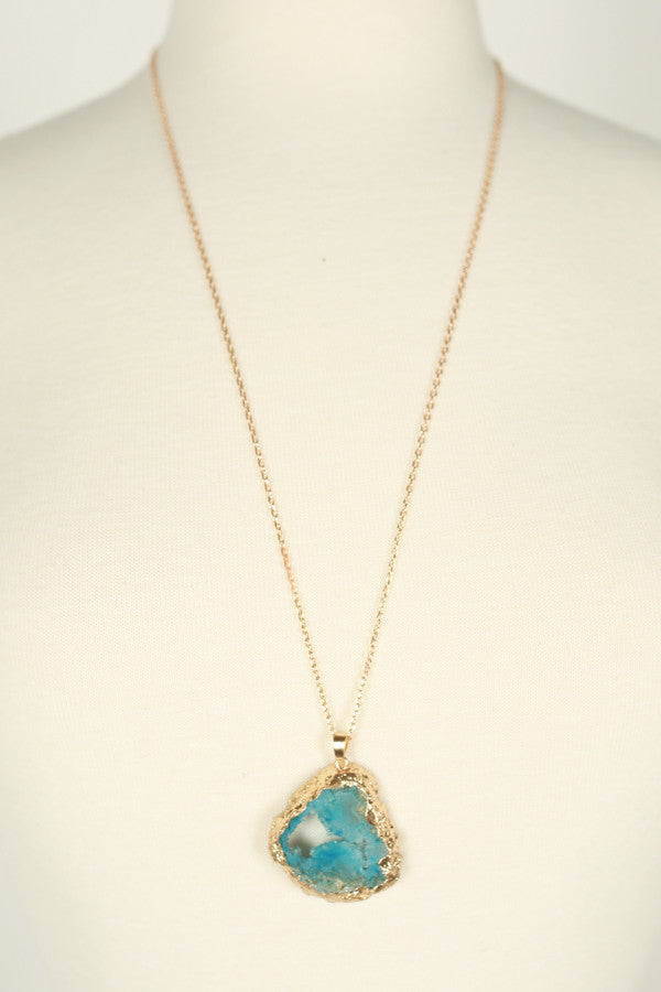 The Ocean Is Calling Druzy Necklace