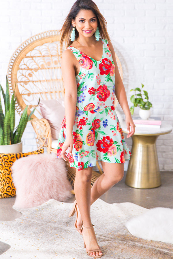 Living On Love Floral Dress