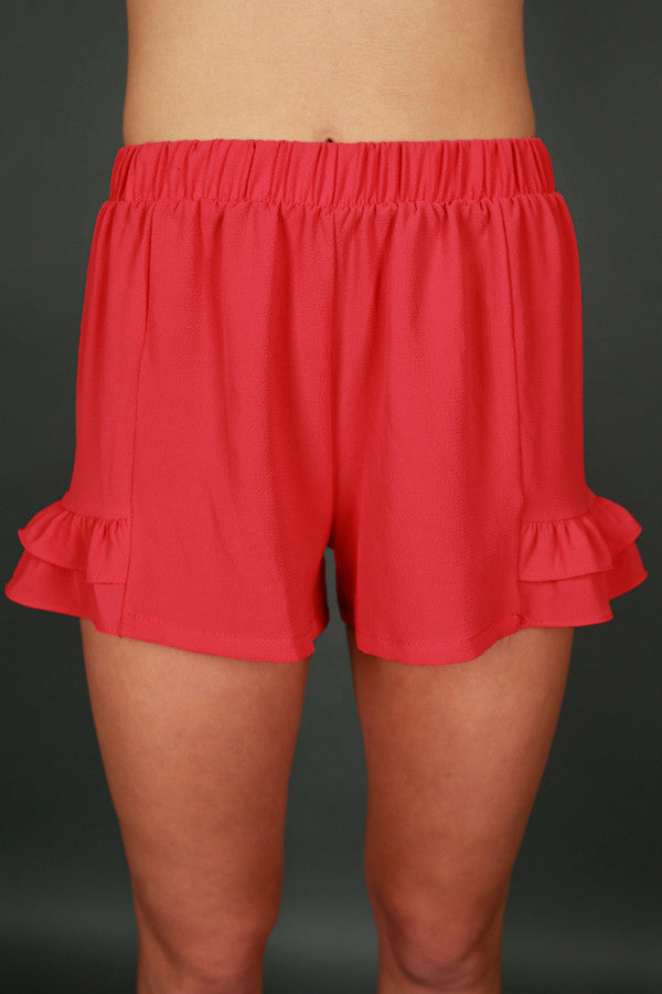 Know It All Shorts in Red