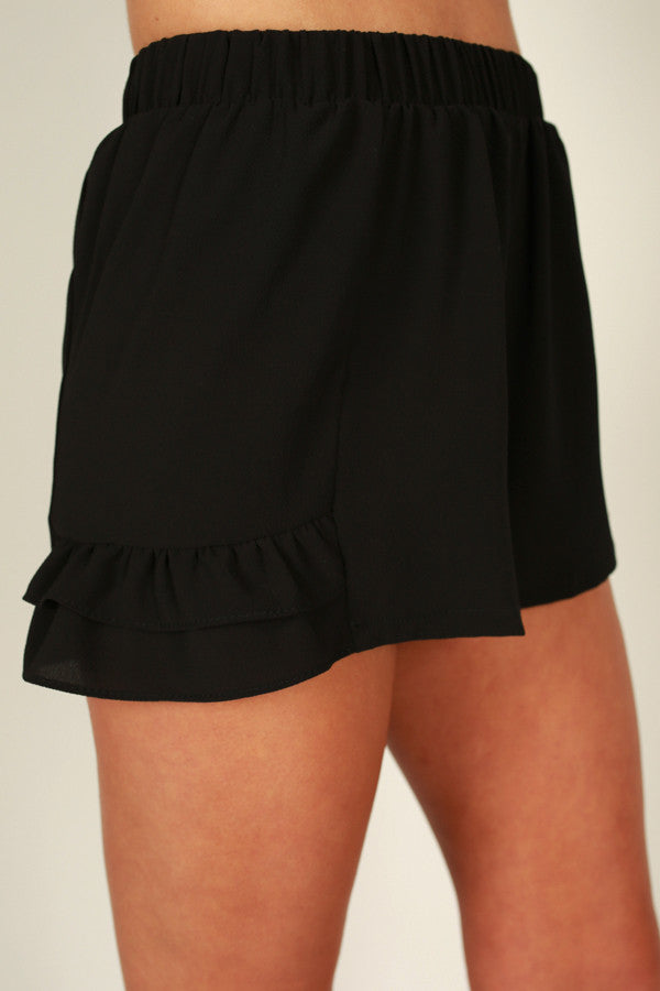 Know It All Shorts in Black