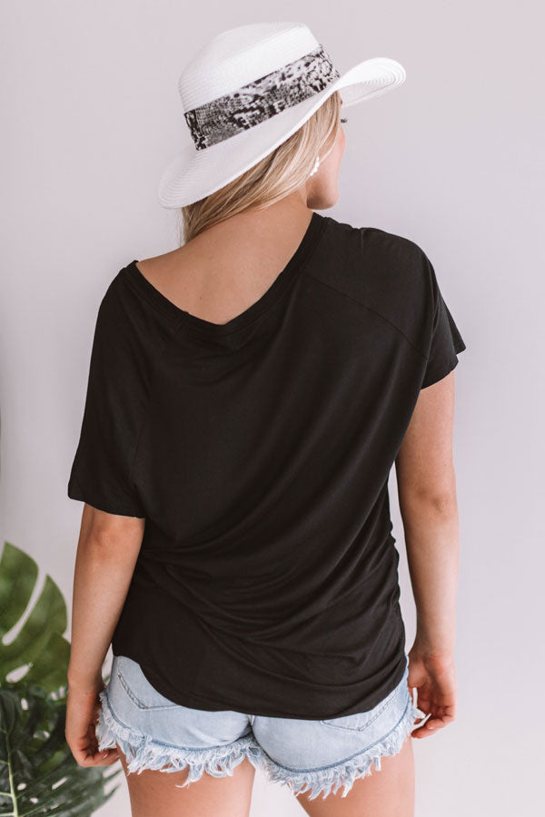 Show Off Shift Tee In Black