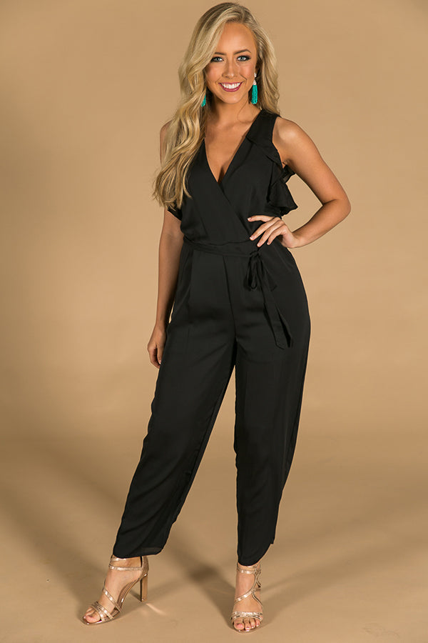 V.I.P Style Jumpsuit in Black