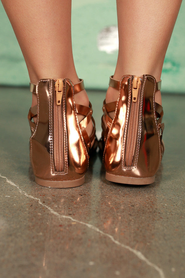 Nothing To Lose Sandal in Rose Gold