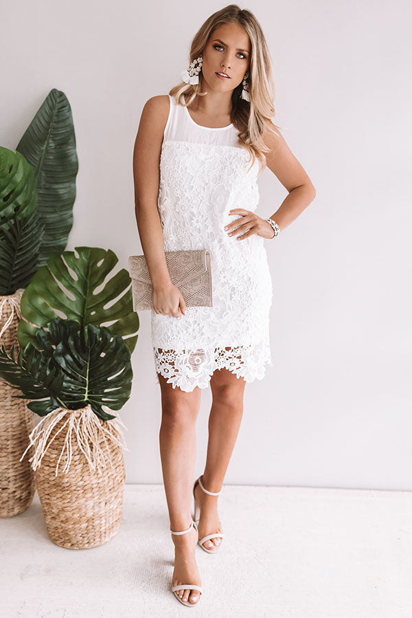 Lucky In Love Crochet Shift Dress
