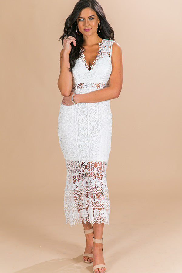 Love On My Mind Crochet Dress