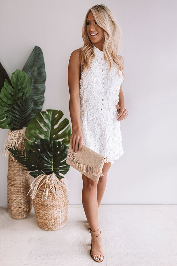 Worth It Crochet Romper in White