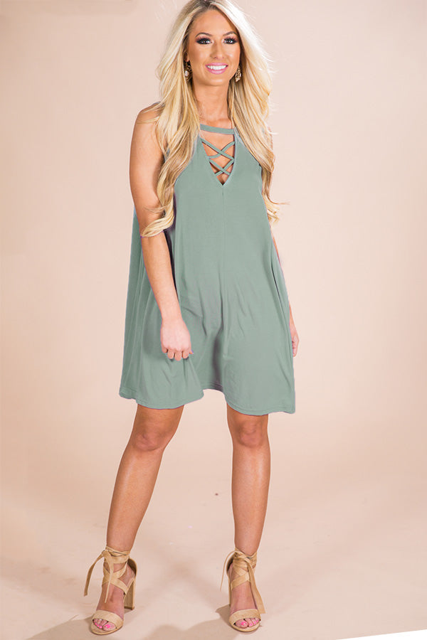 Run Away With Me Shift Dress in Mint