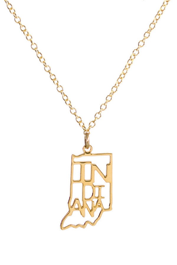 Kris Nations State Pride Necklace Indiana