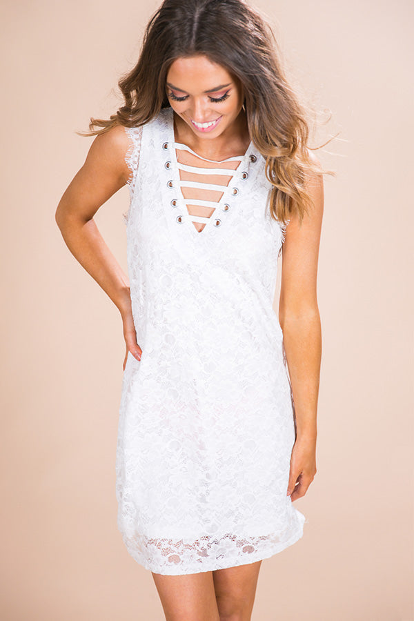A Kiss Like This Lace Dress in White