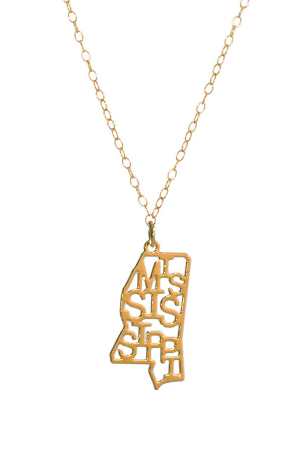 Kris Nations State Pride Necklace Mississippi