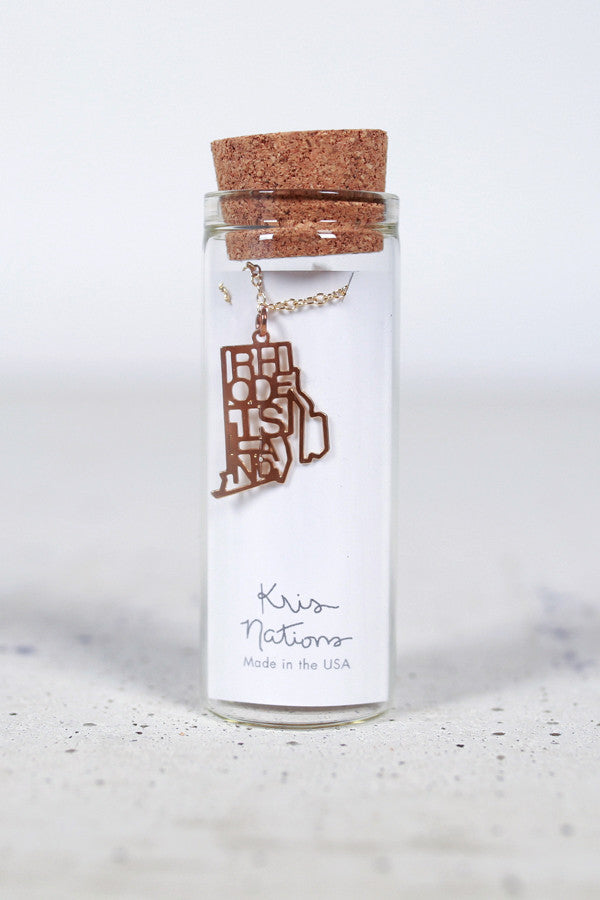 Kris Nations State Pride Necklace Rhode Island
