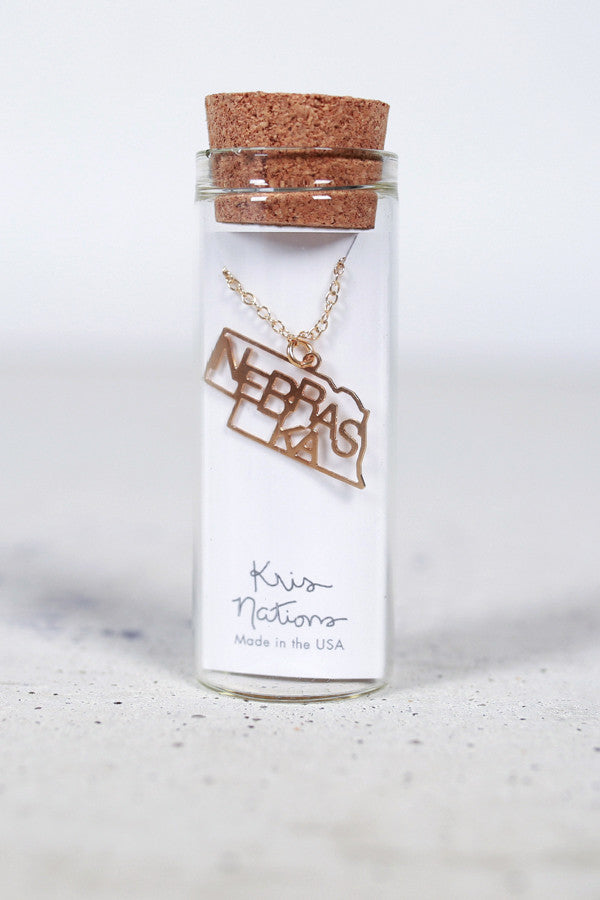 Kris Nations State Pride Necklace Nebraska
