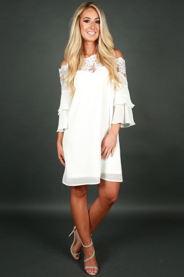 So This Is Love Shift Dress in Ivory