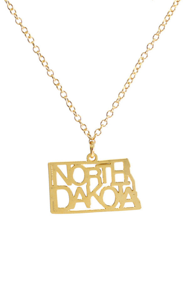 Kris Nations State Pride Necklace North Dakota